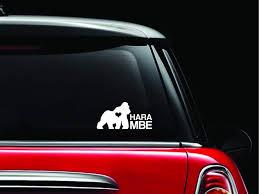 Rip Harambe Vinyl Car Decal Sticker Banner Rainbowlands Lk