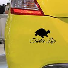 2020 16 9 8cm Turtle Life Sticker Funny Car Window Bumper Novelty Jdm Drift Vinyl Decal Sticker Car Accessories From Xymy787 4 23 Dhgate Com