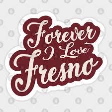 Forever I Love Fresno Fresno State Bulldogs Sticker Teepublic Au