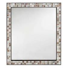rectangle framed brown bathroom