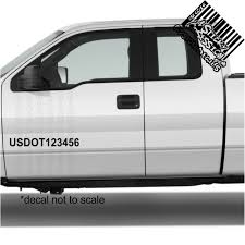 Usdot Number Custom Die Cut Decal Truck Car Transport A Sticky Obsession