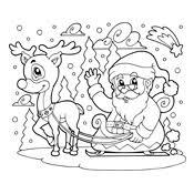 Kleurplaat De Kerstman En Zijn Elfjes Kerstmis 3100