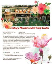 miniature indoor fairy garden seminar