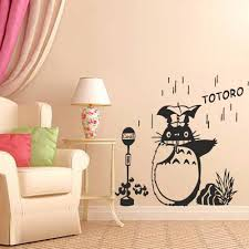 Buy Battoo Totoro And Friends Vinyl Wall Art Decal Nursery Wall Sticker Chibi Totoro Wall Decal 43 Quot H X44 Quot W Black In Cheap Price On M Alibaba Com