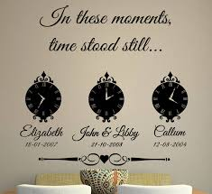 In These Moments Time Stood Still Wall Sticker By Wall Art Quotes Designs By Gemma Duffy Notonthehighstreet Com