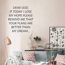 Dear God Wall Sticker Hope Inspirational Quote Wall Decal Motivational Wall Quotes Cut Vinyl Sticker Q220 Wall Sticker Vinyl Stickersquote Wall Decal Aliexpress