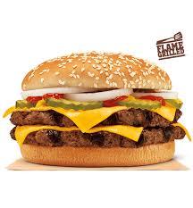 double quarter pound king burger king