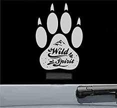 Amazon Com Wild Spirit Paw Vinyl Decal Sticker Silver Automotive
