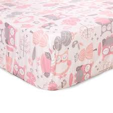 Levtex Baby Night Owl Crib Bedding Collection In Pink Grey Bed Bath Beyond