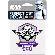 Tcu Horned Frogs Wincraft 4 X 4 Perfect Cut Yoda Decal Walmart Com Walmart Com