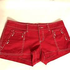 mossimo womens red mini booty shorts sz