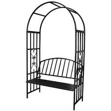 1 go steel garden arch with seat for 2