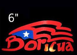 Puerto Rico Car Decal Sticker Boricua With Puerto Rican Flag 4 Car Decals Stickers Car Decals Puerto Rican Flag