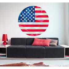 Shop Us Flag Polygonal Wall Decal Overstock 32178296