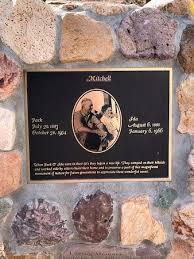 Plaque of Ida and Jack - Picture of Mitchell Caverns, Essex - Tripadvisor