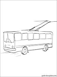 Kleurplaten Trolleybus Gratis Kleurplaten