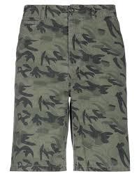 bermuda military green men pants