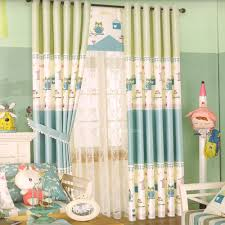 Two Tone Little Cat Pattern Kids Room Curtain 2016 New Arrival