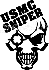 Usmc Sniper Skeleton 3 Decal Sticker Decal Max