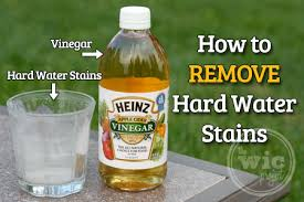 removing hard water stains with heinz