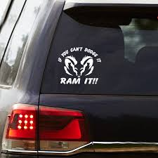 If You Can T Dodge It Ram It Vinyl Decal Truck Window Etsy