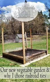 build a small garden with railroad ties