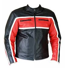 classic mens red leather motorcycle