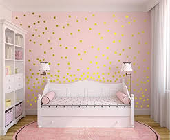 Amazon Com Gold Wall Decal Dots 200 Decals Easy Peel Stick Safe On Walls Paint Removable Metallic Vinyl Polka Dot Decor Round Circle 1 Inch Art Sayings Sticker