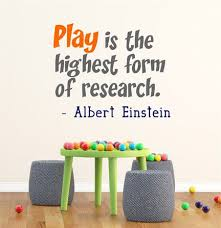 Play Is The Highest Form Of Research Albert Einstein Wall Quote Vinyl Wall Decal Sticker Playroom Wall Playroom Vinyl Wall Quotes