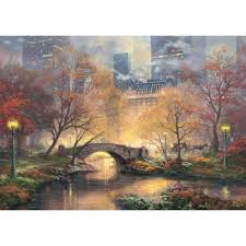 Puzzle Thomas Kinkade - Central Park in Autumn Schmidt-Spiele-59496 1000  pieces Jigsaw Puzzles - Towns and Villages - Jigsaw Puzzle