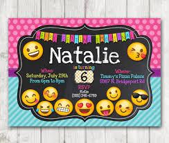 Para Imprimir Invitacion De Fiesta De Cumpleanos De Emoji Emoji