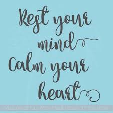 Rest Your Mind Vinyl Wall Decals Encouraging Affirmation Health Quotes