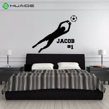 Personalized Soccer Goalie Wall Decal Vinyl Wall Sticker For Kids Room Gym Sports Goal Keeper Home Decor Boys Wall Art A 27 Sticker Photo Stickerstickers Music Aliexpress