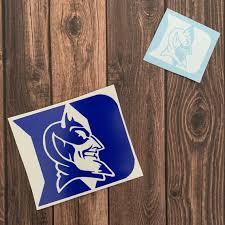 Duke University Blue Devils Yeti Rtic Sticker Duke Decal Car Etsy