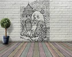 Panda Art Cute Bear Bamboo Tibet Wall Vinyl Decal Sticker Room Decor Tk034 Ebay