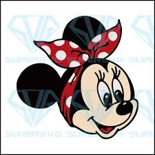 Minnie Mouse With Bandana Svg Dxf Png Cut File Jpg Reverse Paper Supersvg