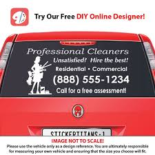Rear Glass Decal Cleaning Services 6