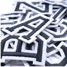 658047990 1pc Pure Black English Alphabet Iron On Patches Decal Embroidery For Clothing For Jacket Jeans Sewing Diy Coat Ironing Stickers Home Garden Arts Crafts Sewing