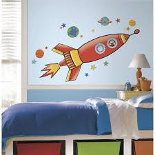 Roommates 5 In X 19 In Rocket Peel And Stick Giant Wall Decal Rmk2619gm The Home Depot