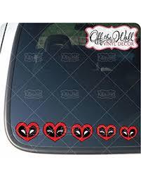 Deals On Deadpool Heart Family Figures Car Truck Vehicle Vinyl Decal Sticker