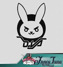 Vinyl Decal Overwatch D Va Logo Etsy