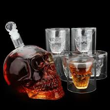 strong drink decanter skull shaped