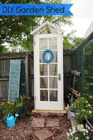 useful garden shed made from doors