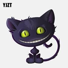 Big Offer 9edb26 Yjzt 12 7cm 12 8cm Lovely Grinning Cheshire Cat Icon Pvc High Quality Car Sticker 11 01092 Cicig Co