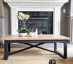rustic industrial coffee table the
