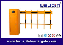Two Fence Boom Automatic Traffic Barriers Car Park Barrier Gate With Arms