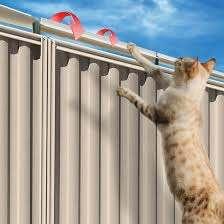 Oscillot Cat Proof Fence Diy Kit 2m Satin Black