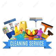 Cleaning Service Flat Illustration. Poster Template For House.. Royalty  Free Cliparts, Vectors, And Stock Illustration. Image 55054160.