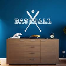 Baseball Wall Decal Duo Of Bats Wall Decor Decals Market