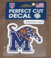 Memphis Tigers Ncaa 4 Inch By 4 Inch Perfect Cut Vinyl Decal New Cbsportslocker